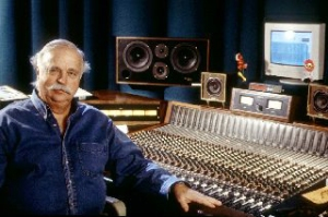 Mixer Bruce Swedien at his Harrison 32c Console